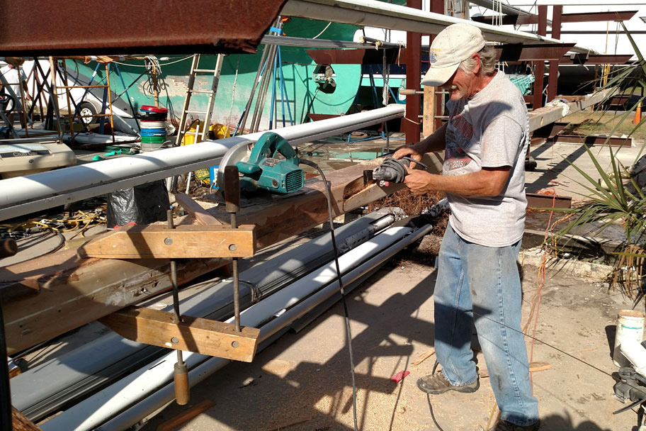 sailboat mast repair