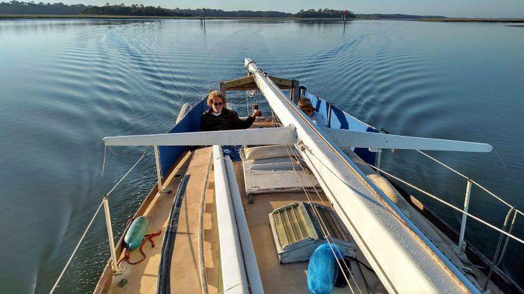 Freya Sailboat Underway