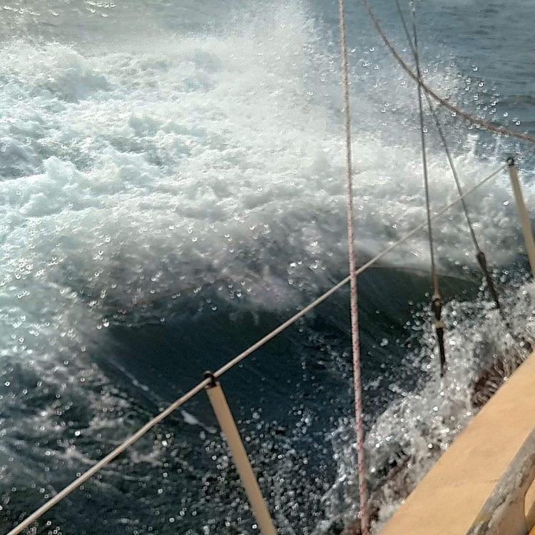 Freya Sailboat in Rough Seas