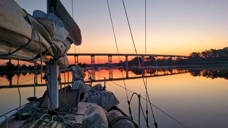 Sunrise at Pungo Ferry
