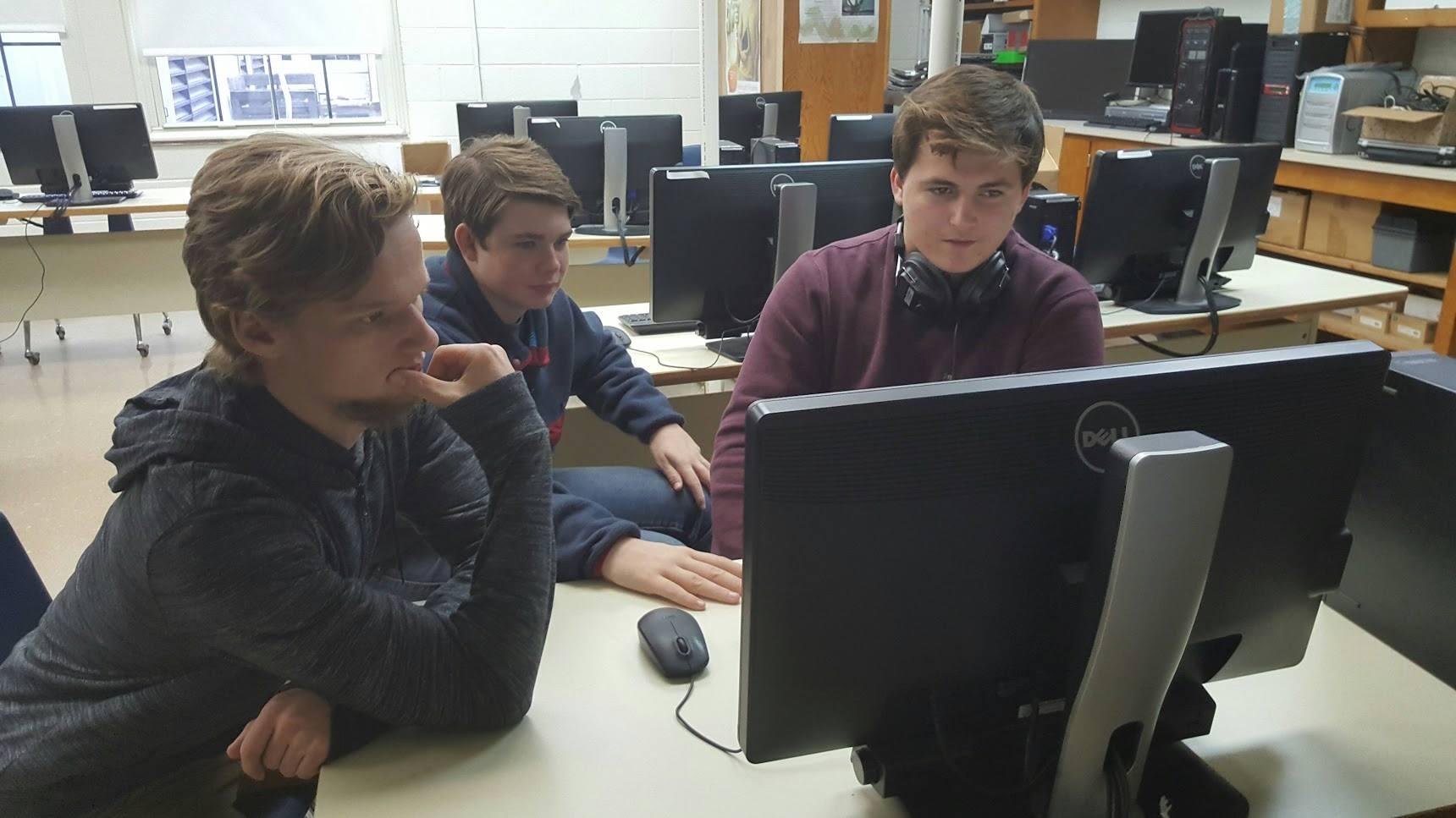 Mathews High School students
