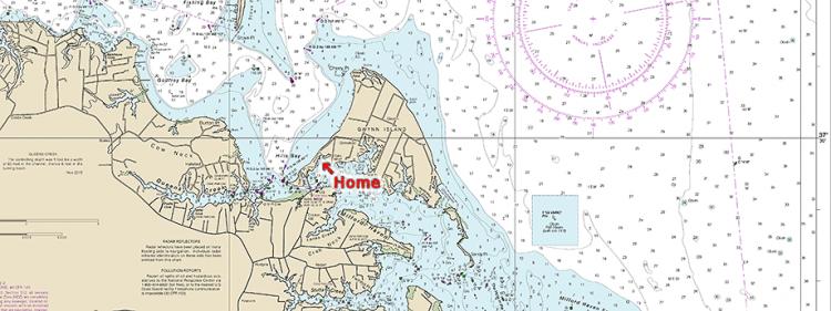 NOAA Chart Gwynn's Island Virginia