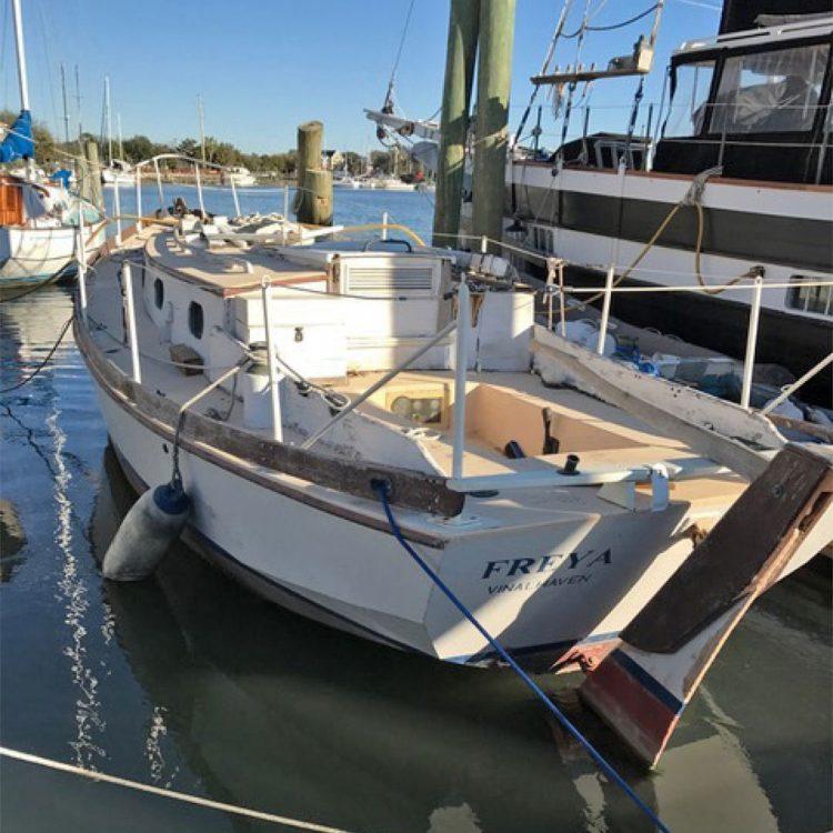 Freya sailboat moored