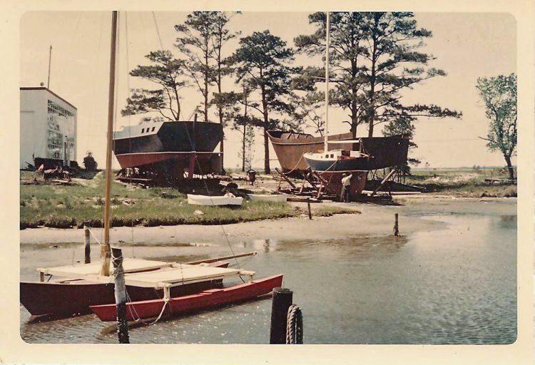Gilbert Klingel's boatyard